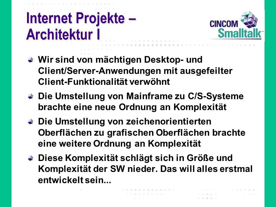 Internet Projekte – Architektur I
