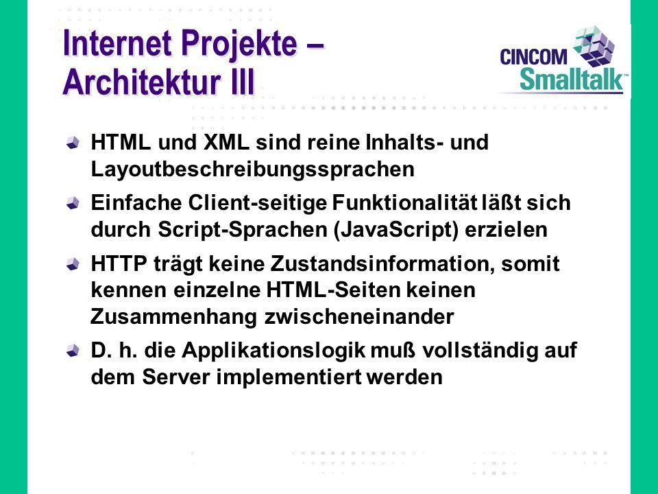 Internet Projekte – Architektur III