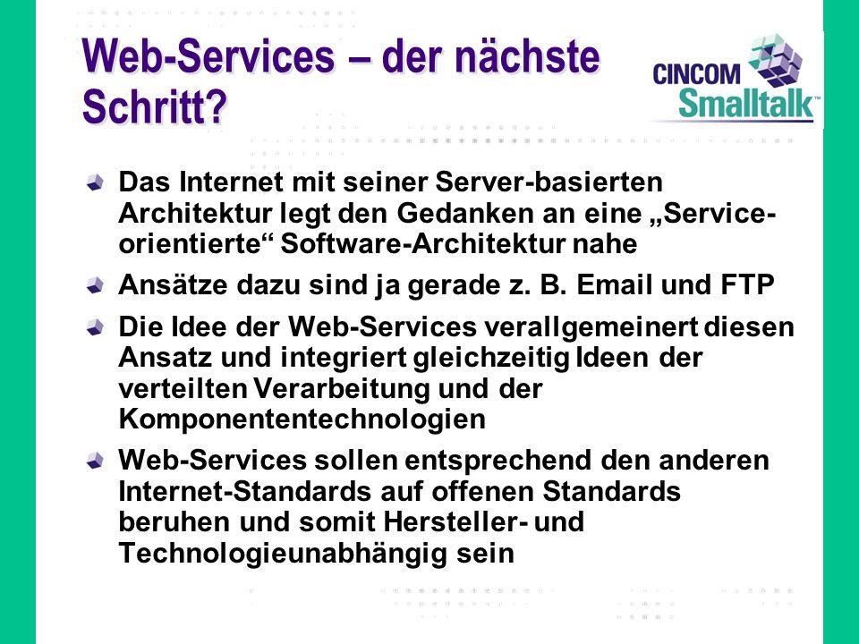 Web-Services – der nächste Schritt