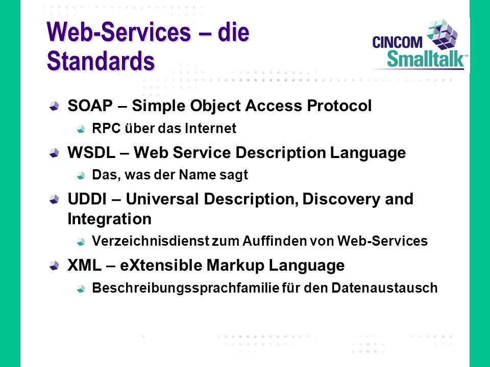 Web-Services – die Standards