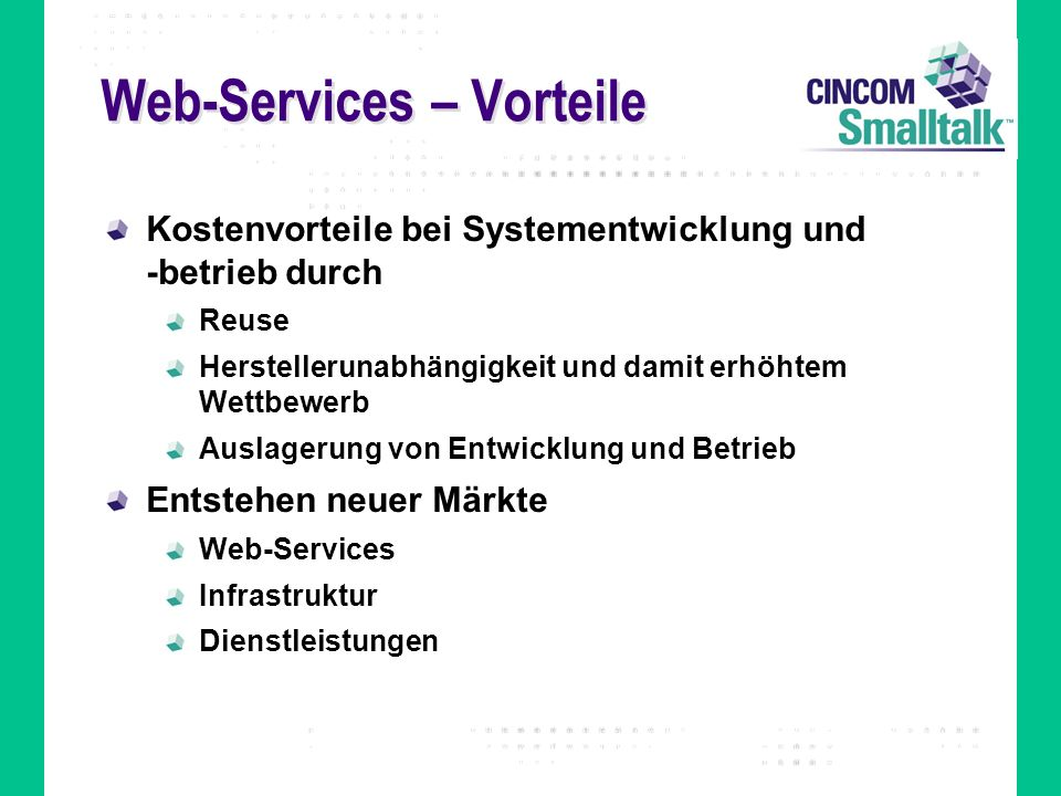 Web-Services – Vorteile
