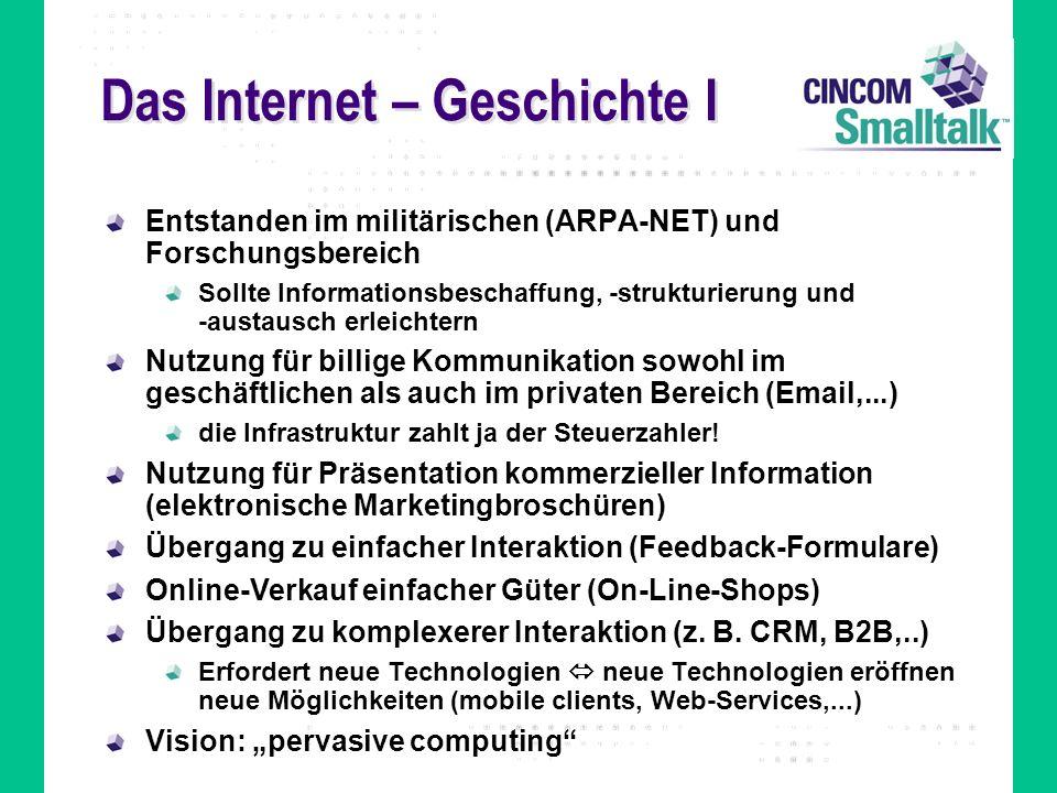 Das Internet – Geschichte I