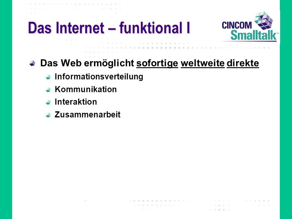 Das Internet – funktional I