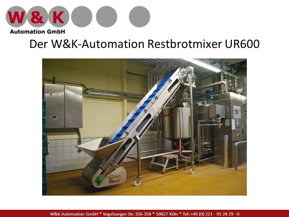 Der W&K-Automation Restbrotmixer UR600