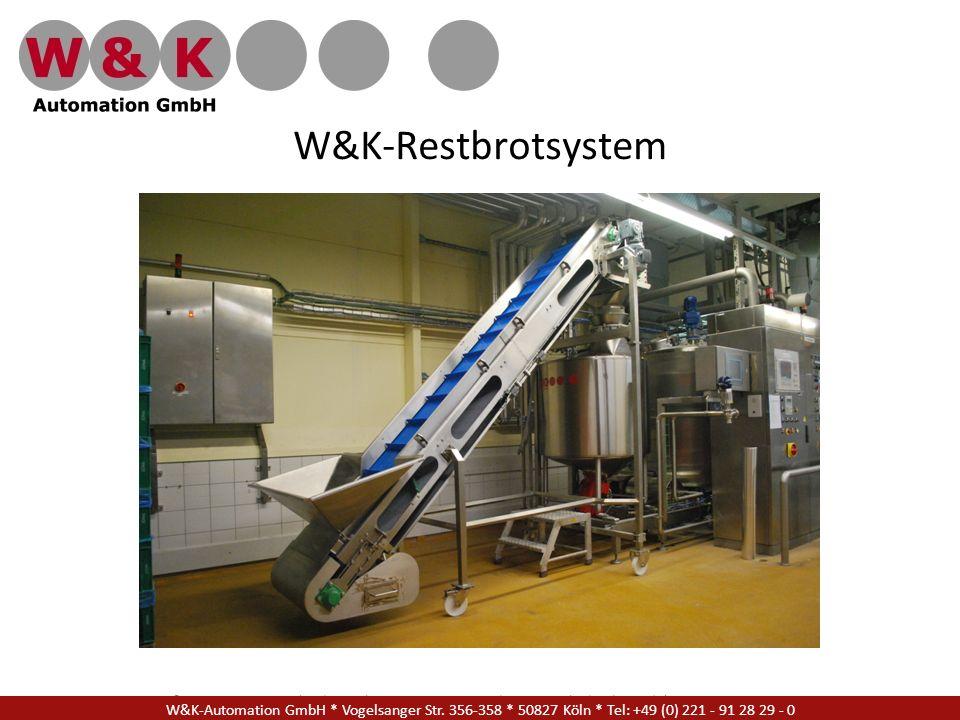 W&K-Restbrotsystem W&K Automation GmbH * Vogelsanger Str. 356-358 * 50827 Köln * Tel: +49 (0) 221 - 91 28 29 - 17.