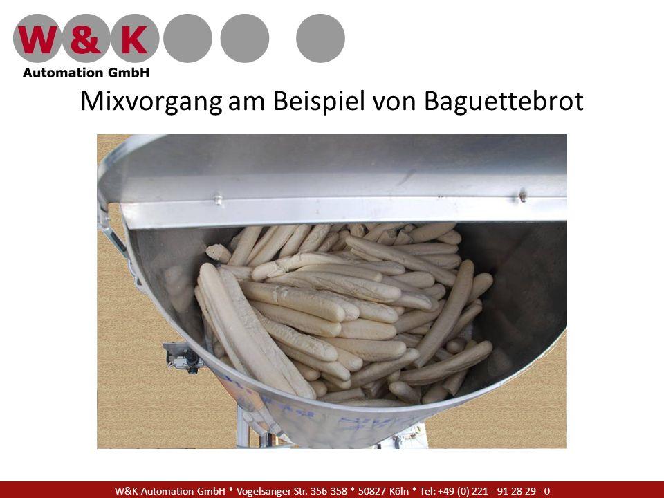 Mixvorgang am Beispiel von Baguettebrot