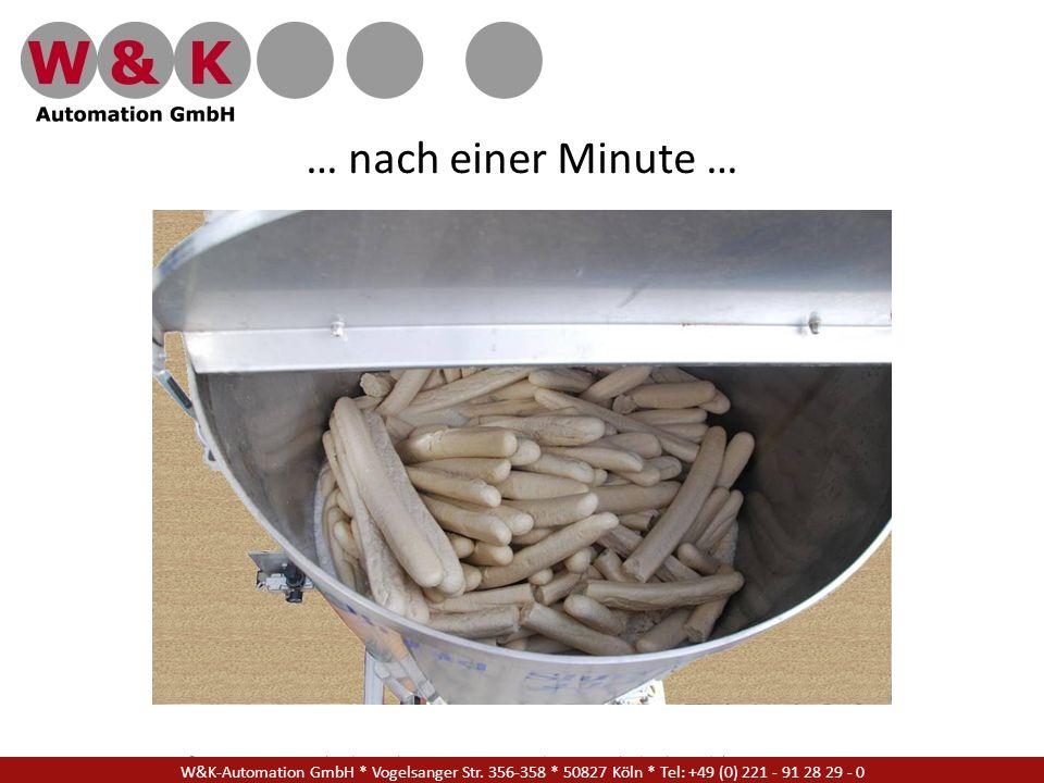… nach einer Minute … W&K Automation GmbH * Vogelsanger Str. 356-358 * 50827 Köln * Tel: +49 (0) 221 - 91 28 29 - 17.