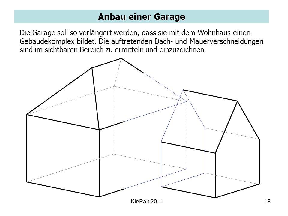 Anbau einer Garage