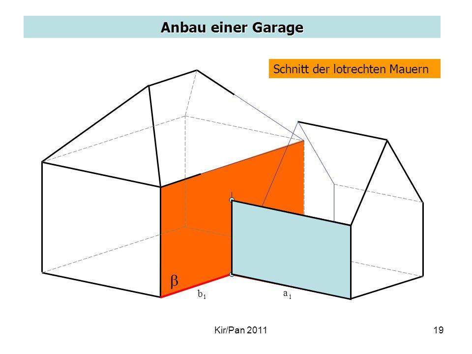 b a Anbau einer Garage Schnitt der lotrechten Mauern b a Kir/Pan 2011