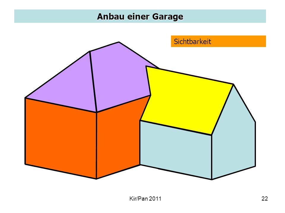 Anbau einer Garage Sichtbarkeit d P' Kir/Pan 2011