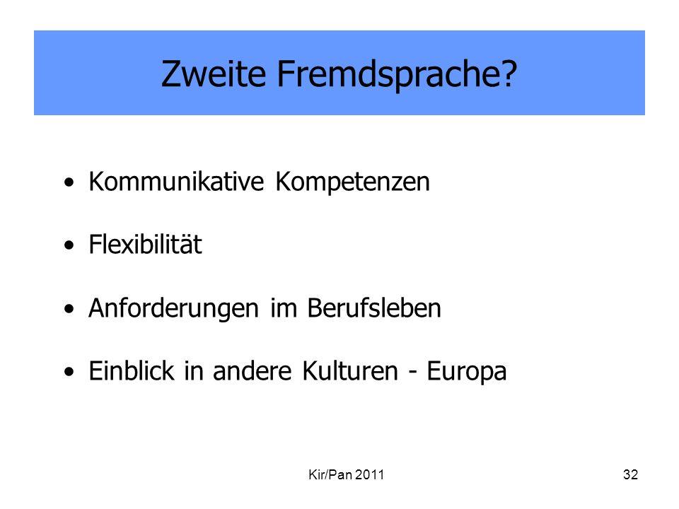 Zweite Fremdsprache Kommunikative Kompetenzen Flexibilität