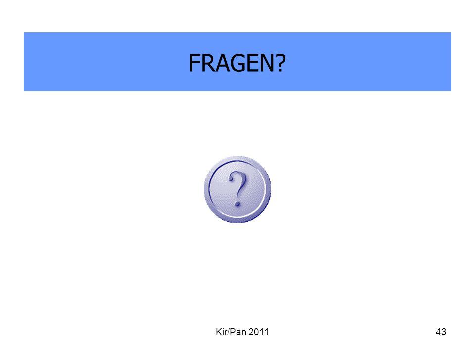 FRAGEN Kir/Pan 2011