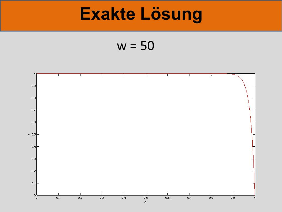 Exakte Lösung w = 50