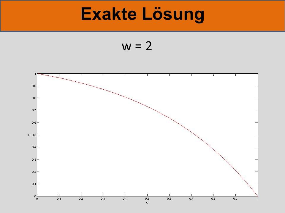 Exakte Lösung w = 2