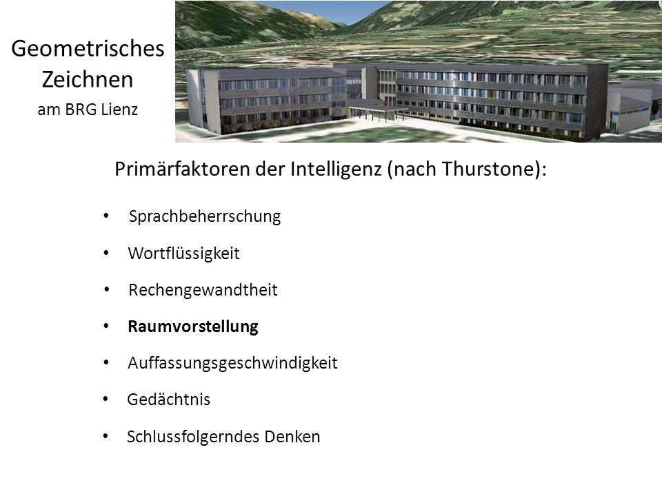 Primärfaktoren der Intelligenz (nach Thurstone):