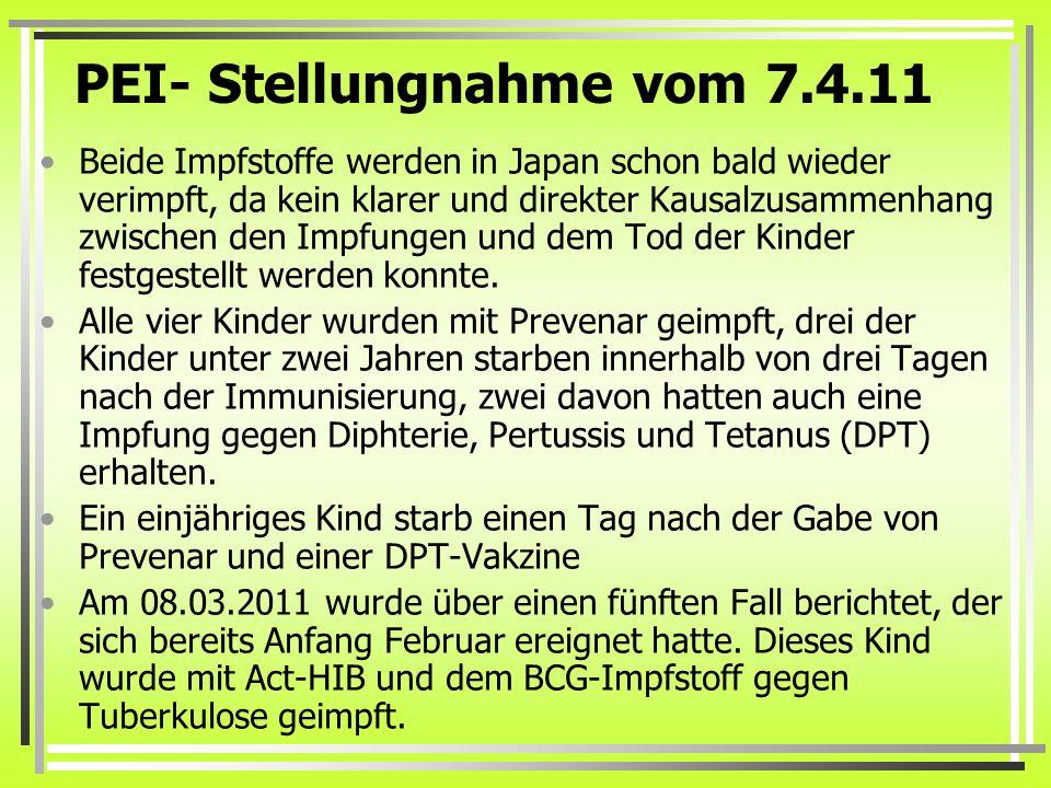 PEI- Stellungnahme vom 7.4.11