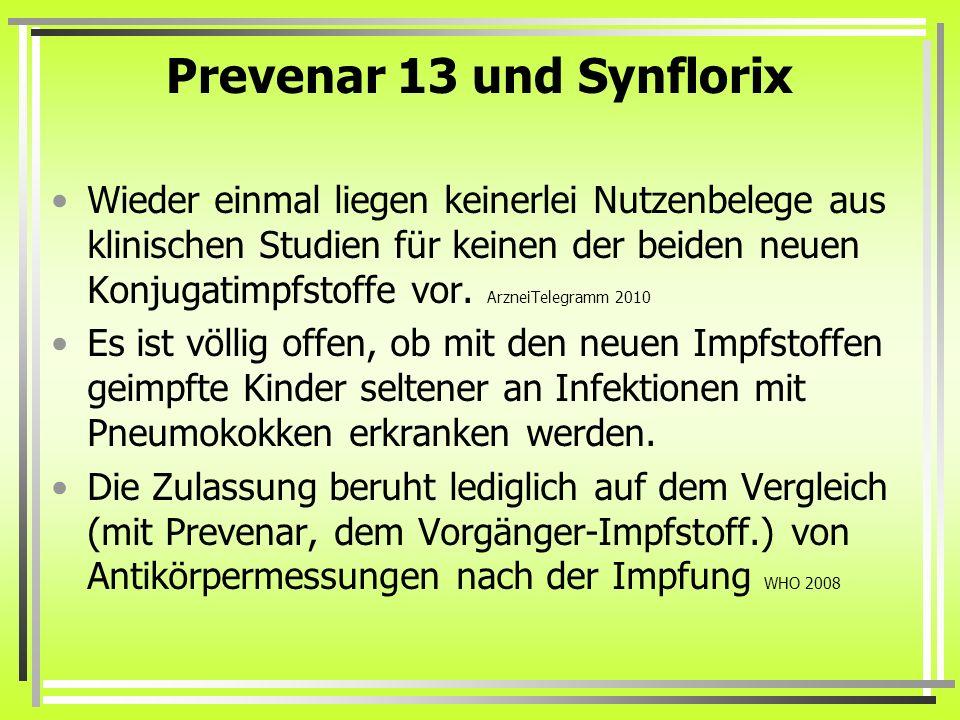 Prevenar 13 und Synflorix