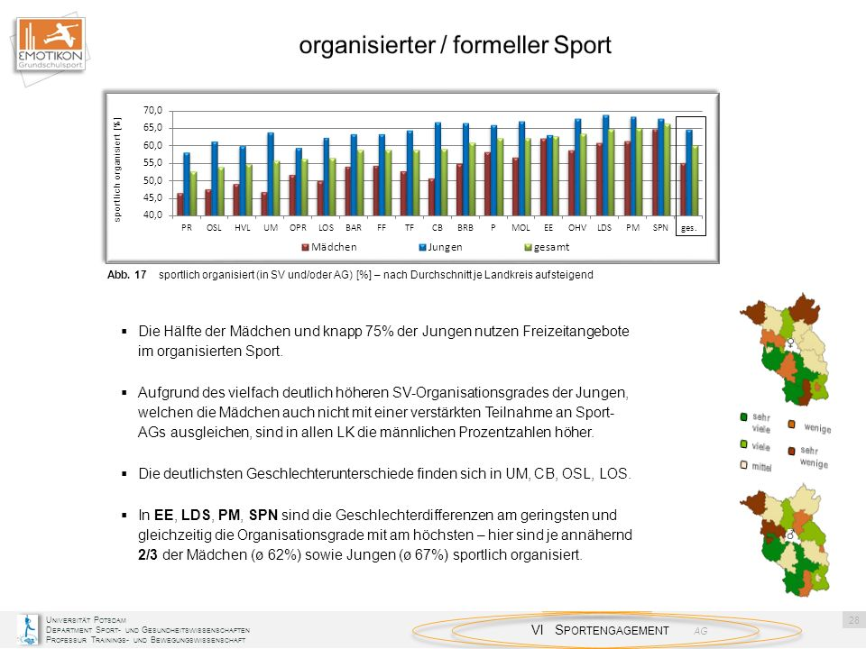 organisierter / formeller Sport
