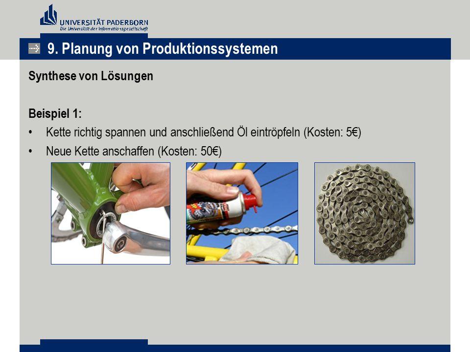 9. Planung von Produktionssystemen