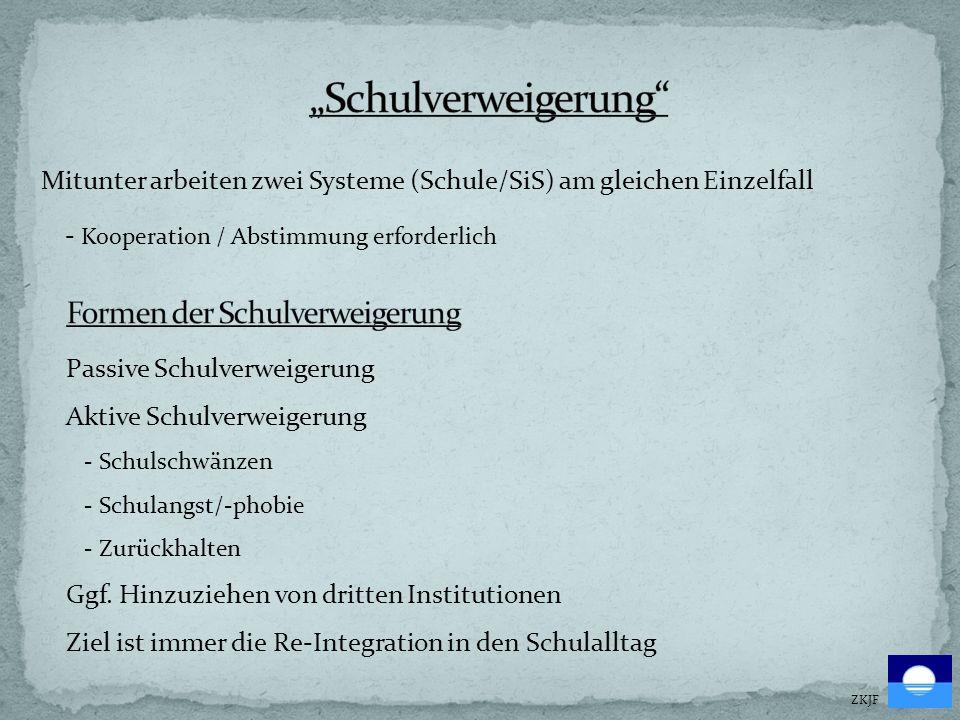 """""""Schulverweigerung - Kooperation / Abstimmung erforderlich"""