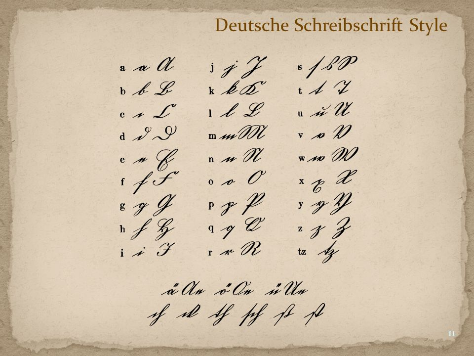 Deutsche Schreibschrift Style