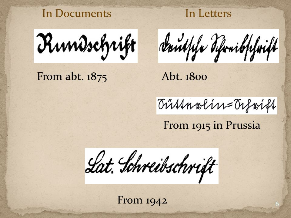 In Documents In Letters