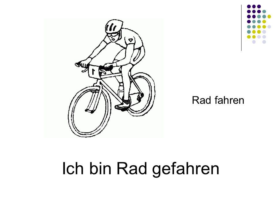 Rad fahren Ich bin Rad gefahren