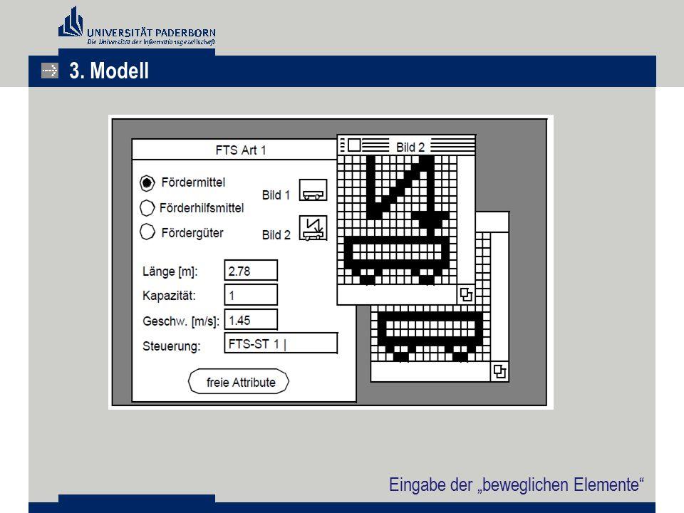 """3. Modell Eingabe der """"beweglichen Elemente"""