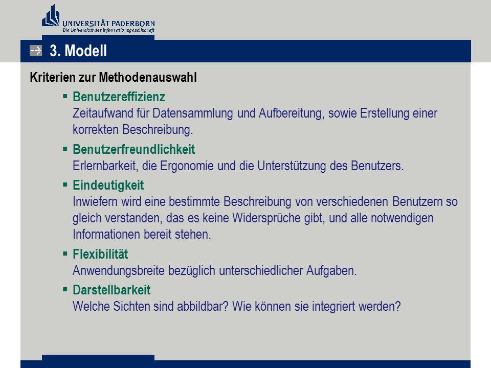3. Modell Kriterien zur Methodenauswahl