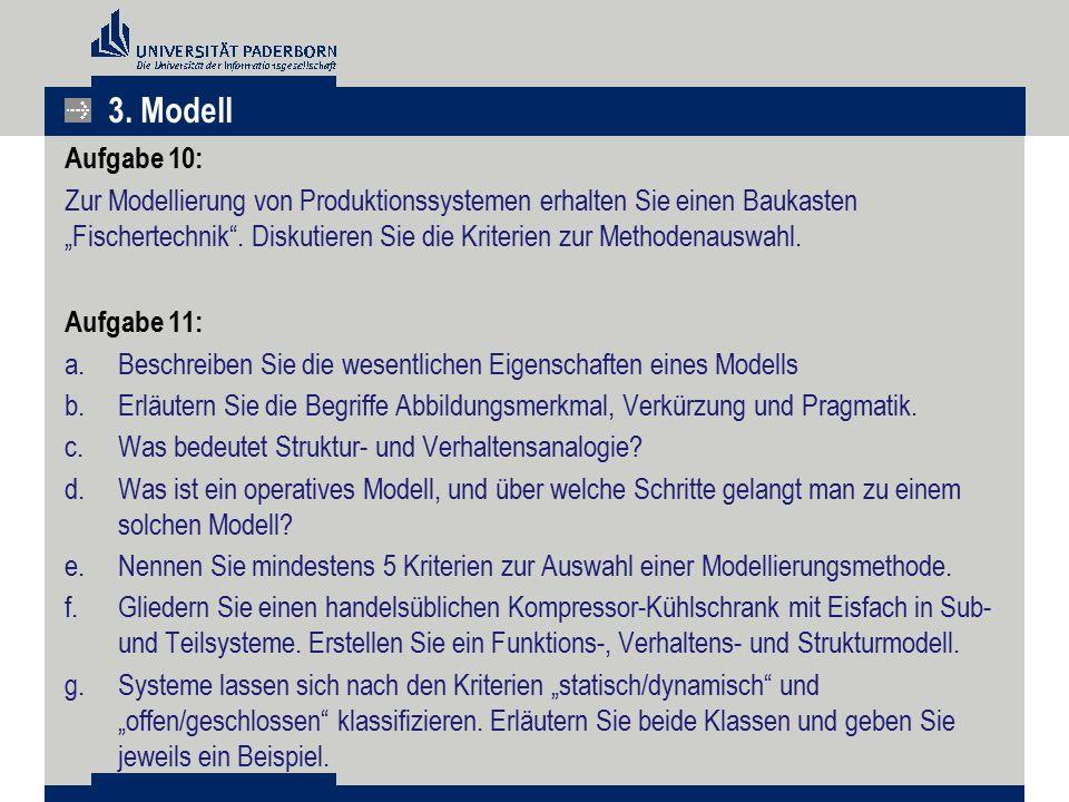 3. Modell Aufgabe 10: