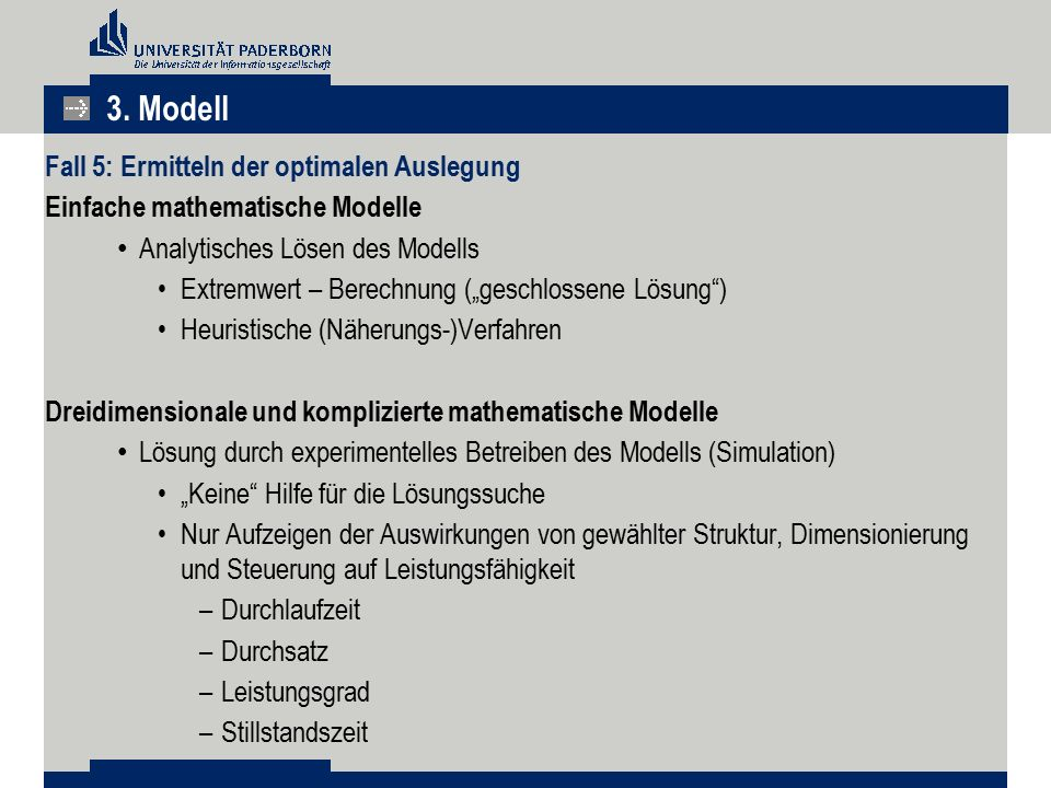 3. Modell Fall 5: Ermitteln der optimalen Auslegung