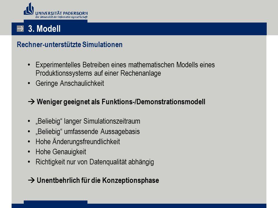 3. Modell Rechner-unterstützte Simulationen
