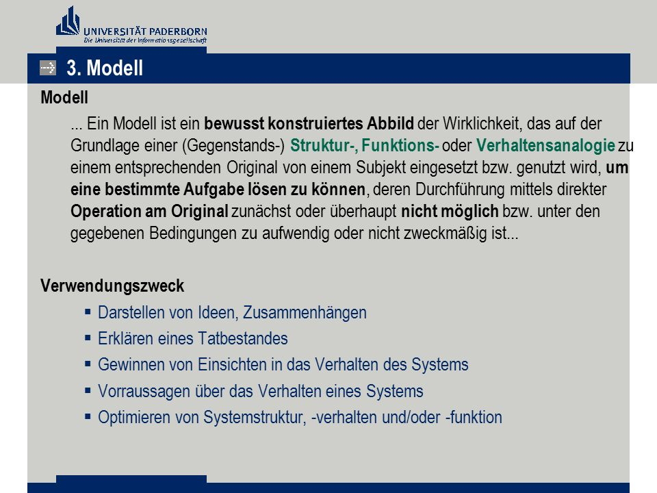 3. Modell Modell.