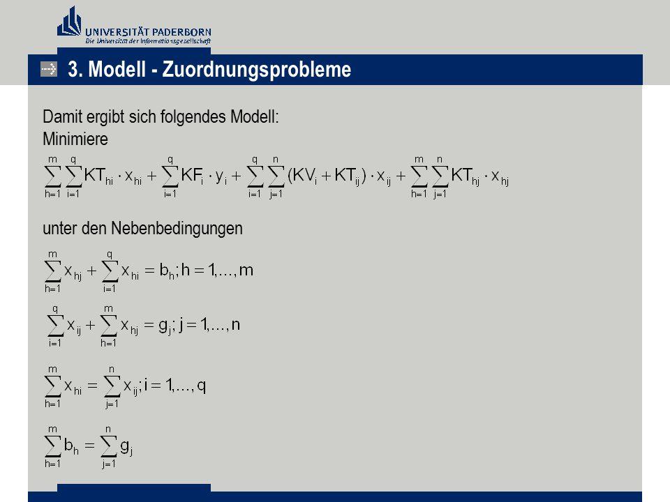 3. Modell - Zuordnungsprobleme