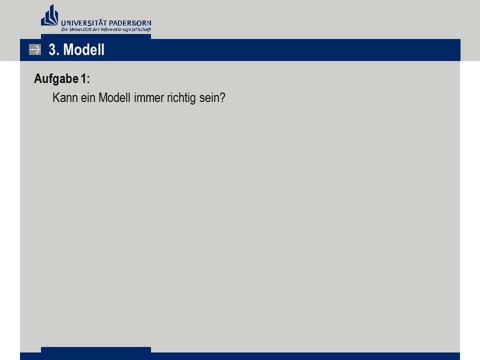 3. Modell Aufgabe 1: Kann ein Modell immer richtig sein