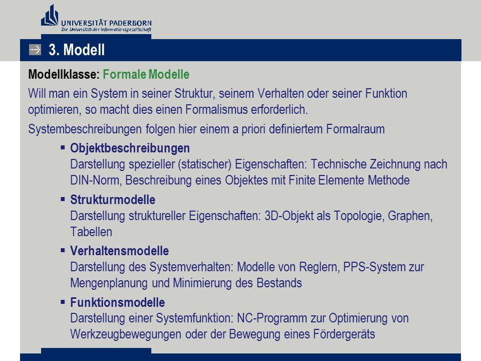 3. Modell Modellklasse: Formale Modelle