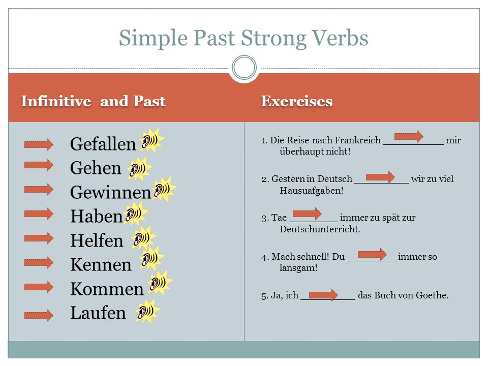 Simple Past Strong Verbs