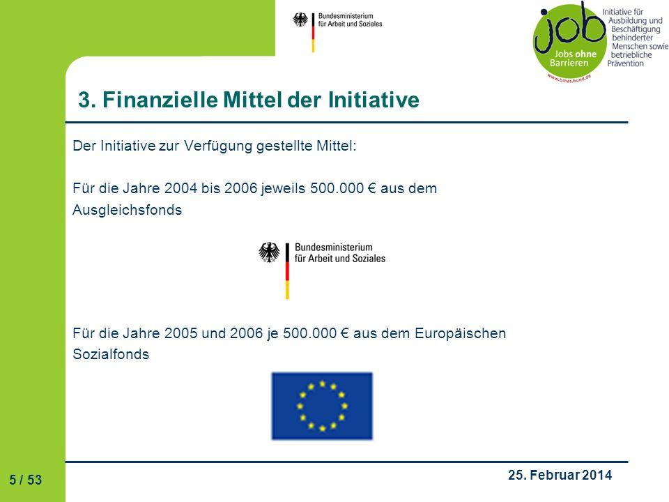 3. Finanzielle Mittel der Initiative
