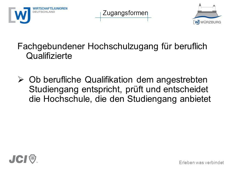 Fachgebundener Hochschulzugang für beruflich Qualifizierte