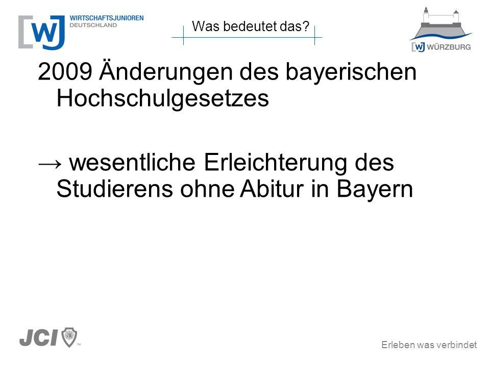 2009 Änderungen des bayerischen Hochschulgesetzes