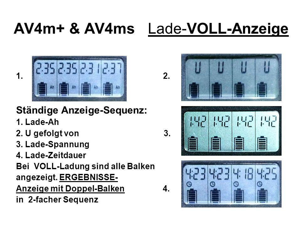 AV4m+ & AV4ms Lade-VOLL-Anzeige