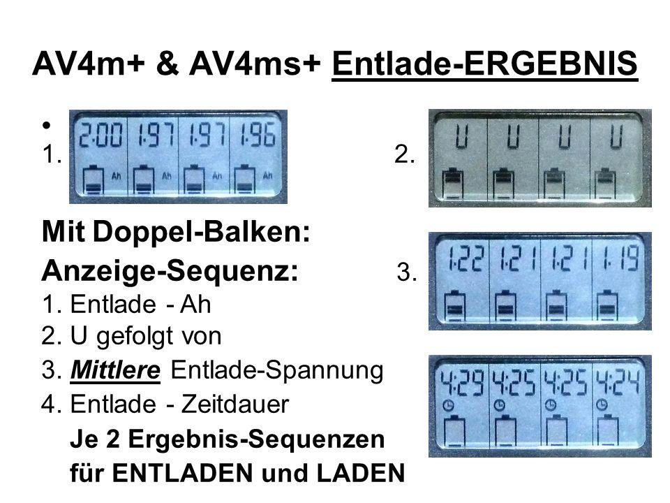 AV4m+ & AV4ms+ Entlade-ERGEBNIS