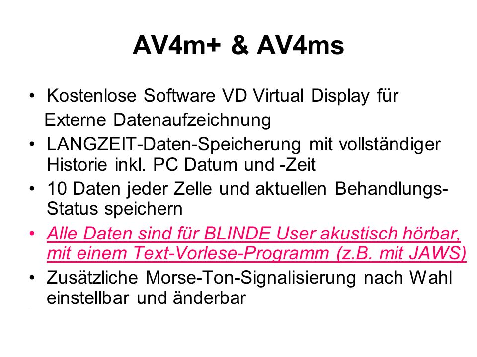 AV4m+ & AV4ms Kostenlose Software VD Virtual Display für