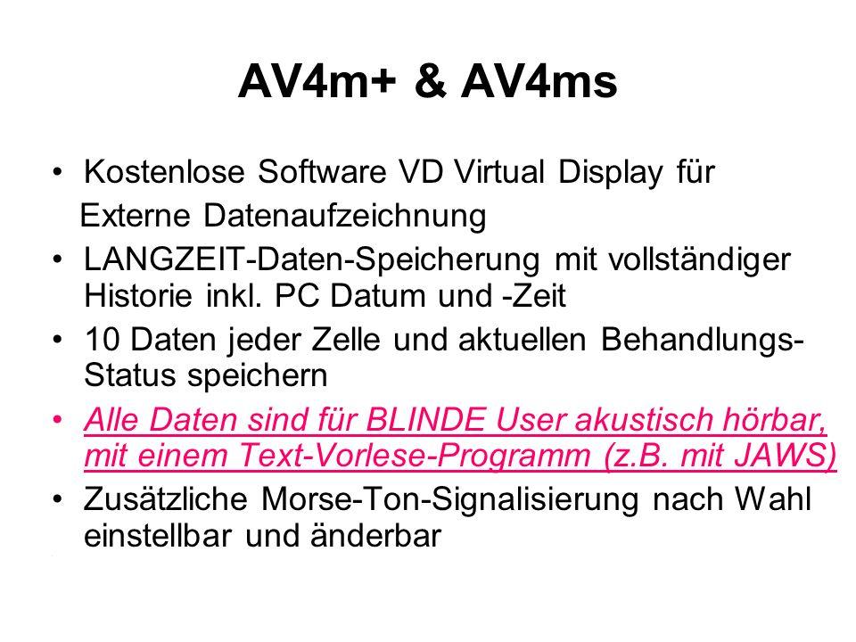 AV4m+ & AV4ms Kostenlose Software VD Virtual Display für