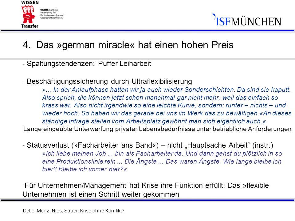 4. Das »german miracle« hat einen hohen Preis