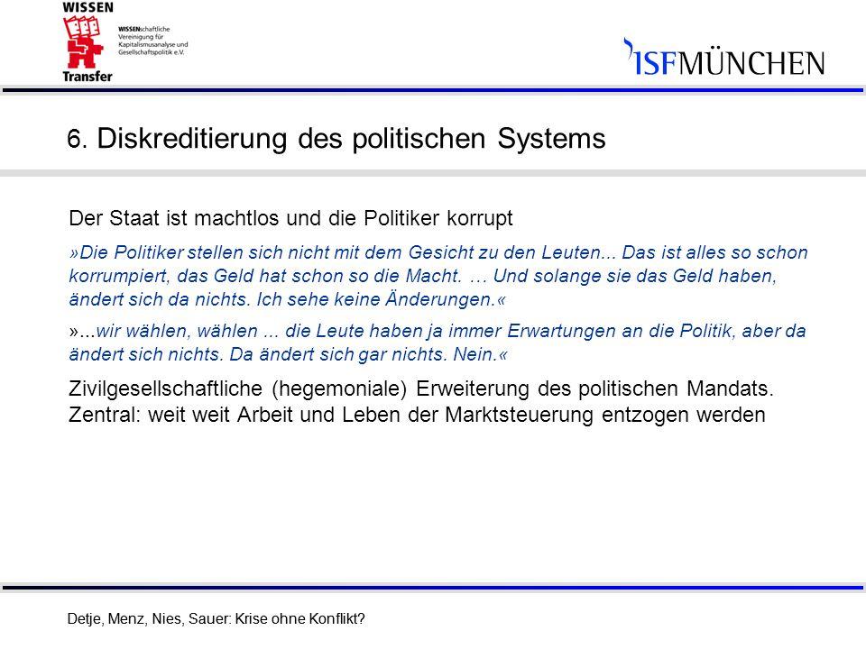 6. Diskreditierung des politischen Systems