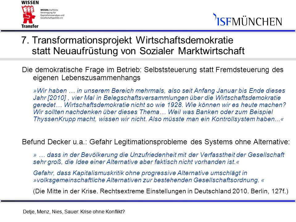7. Transformationsprojekt Wirtschaftsdemokratie statt Neuaufrüstung von Sozialer Marktwirtschaft
