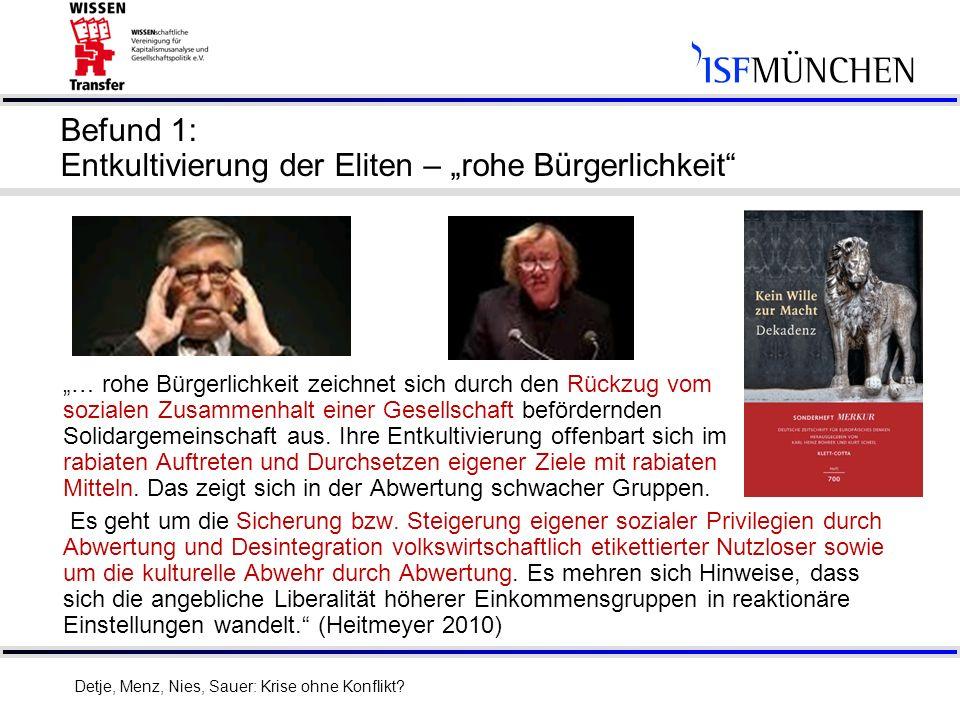 """Befund 1: Entkultivierung der Eliten – """"rohe Bürgerlichkeit"""