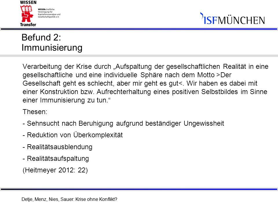 Befund 2: Immunisierung