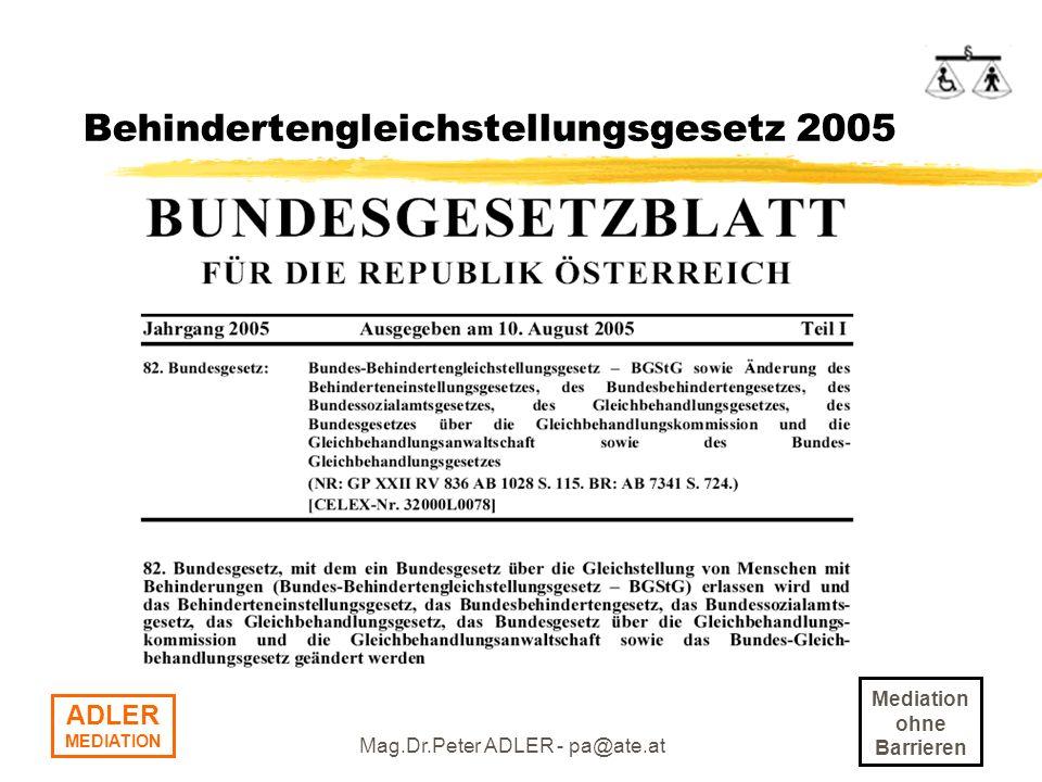Behindertengleichstellungsgesetz 2005